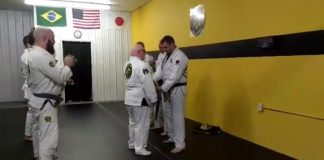 BJJ Student with Down syndrome got his Blue Belt.