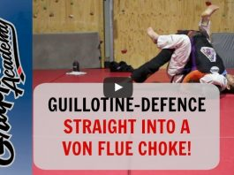 A Guillotine Defence Straight Into a Von Flue Choke – Tom Davey