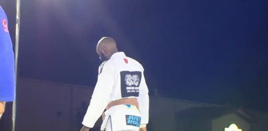 Antoine Evans Black Belt punched in a face and kicked out of gym