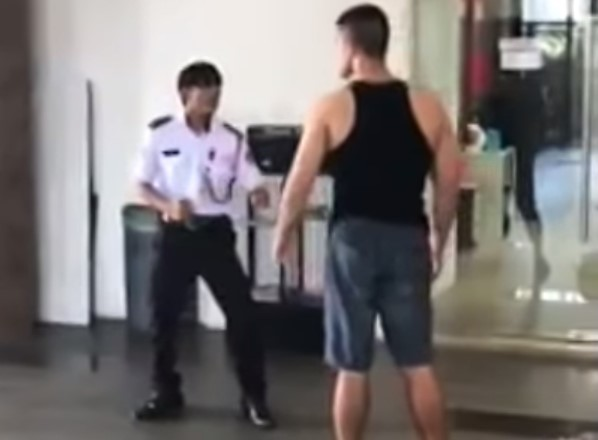 BJJ practitioner attacked security guard