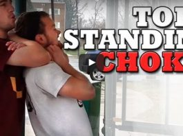 top three standg chokes for a street fight