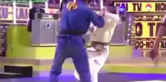 Female BJJ brown belt vs Judo male blavk belt