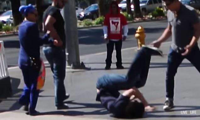 Pulling Berimbolo in a Street Fight