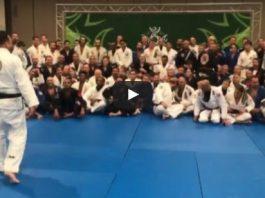 Renzo did a seminar at the IBJJF 2017 World Master Jiu-Jitsu Championship