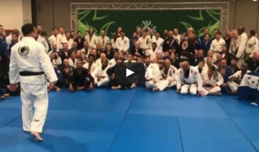 Renzo did a seminar at the IBJJF 2017 World Master Jiu-Jitsu Championship