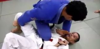 Knee On Belly Armlock Counter - Relson Gracie