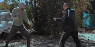 Realistic jiui jitsu in movie scene