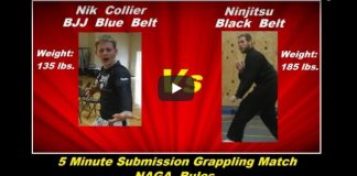 BJJ Blue Belt (135 lbs.) vs Ninjitsu Black Belt (185 lbs.)