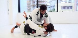 Cross Choke from the Knee Slice - Leandro Lo