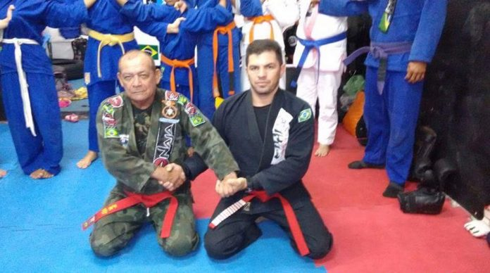 35 year old Clayton Silva promoted to a Red Belt by Ubitaran Cordeiro