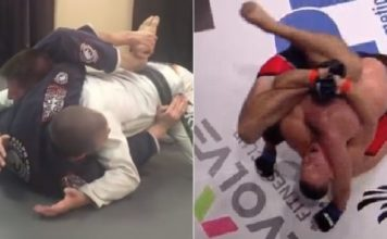 Buggy Choke Invented by White Belt and Executed in MMA