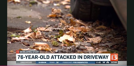 76 yr old woman attacked by a thief