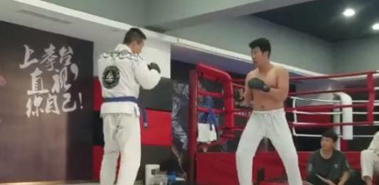 Wing Chun Kung Fu vs BJJ Purple Belt - Real Fight