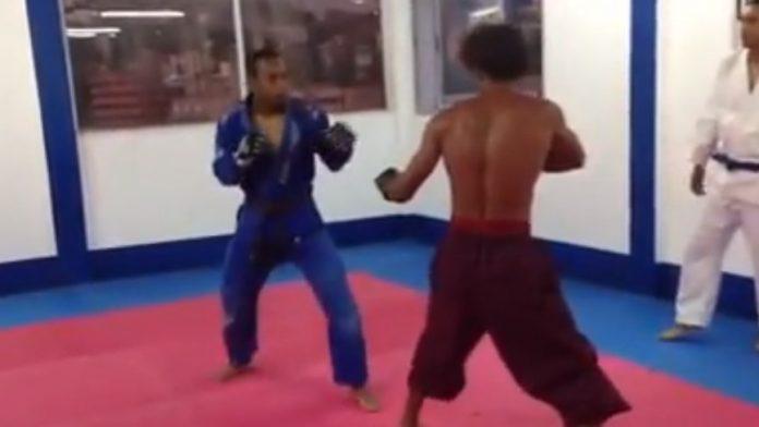 Guy Dojo Stormed BJJ School and Fought a Brown Belt in an MMA fight!