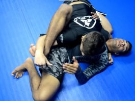 Inverted Triangle from Side Control Bottom as Escape