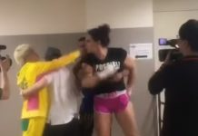 Backstage Fight Between Gabi Garcia and Shinobu Kandori