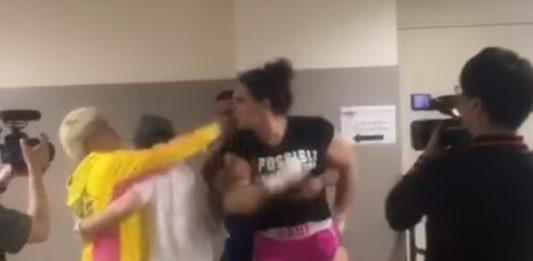 Backstage Fight Between Gabi Garcia and Shinobu Kandori