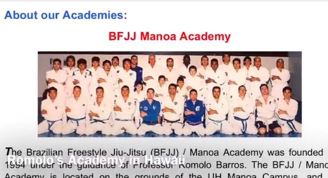Romolo Barros BJJ Academy - BFJJ Manoa Academy
