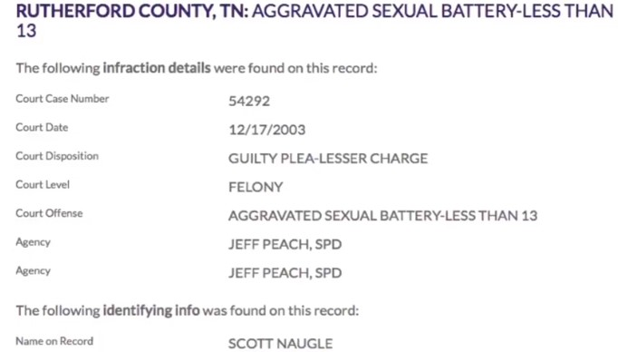 Screenshot 31 - Scott Naugle, Sex Offender and BJJ Black Belt Arrested, Police Reports