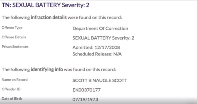 Scott Naugle aggravated Sexual Battery