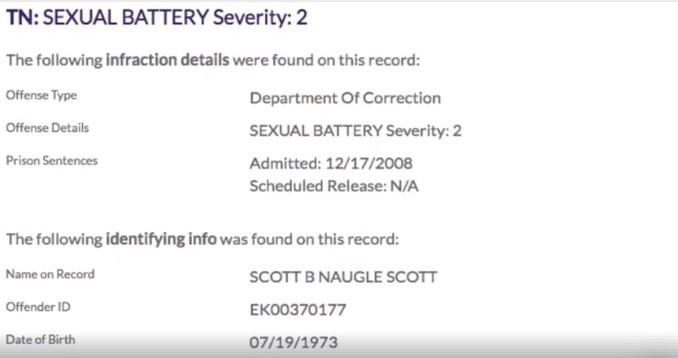 Screenshot 32 - Scott Naugle, Sex Offender and BJJ Black Belt Arrested, Police Reports