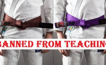 purple belt brown belt banned from teaching