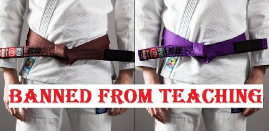 purple belt brown belt banned from teaching
