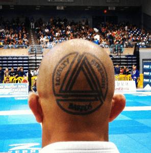 BJJ tattoo on head loyalty