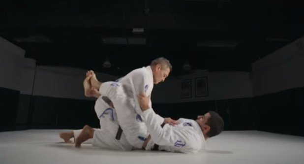 Rickson Gracie Closed Guard Pass with an Arm In Stack Pass