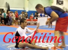 """Blue Belt Submits Black Belt with His Guillotine Choke - """"Genchitine"""""""