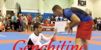 "Blue Belt Submits Black Belt with His Guillotine Choke - ""Genchitine"""