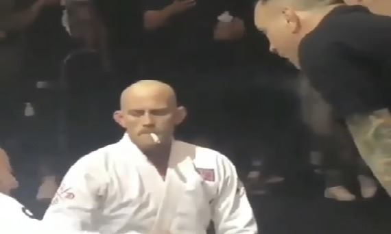 Jeff Glover Smoking Weed Between Rounds in BJJ match