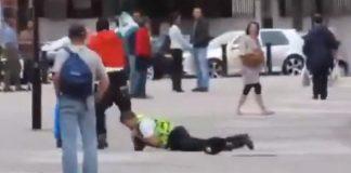 british cop single leg takedown