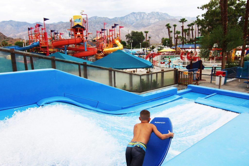 Inside a waterpark (Palm Springs Jiu Jitsu, Palm Springs CA)