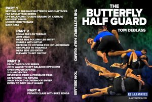 DVDwrap butterfly half guard 1024x1024 300x202 - REVIEW: The Butterfly Half Guard DVD Instructional by Tom DeBlass