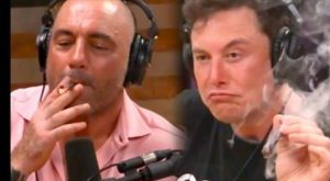 Joe Rogan and Elon Musk smokes weed in Joe Rogan's Podcast