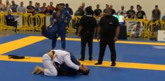Competitor Keeps Carrying His Opponent Around to Be Able to Watch his Teammate