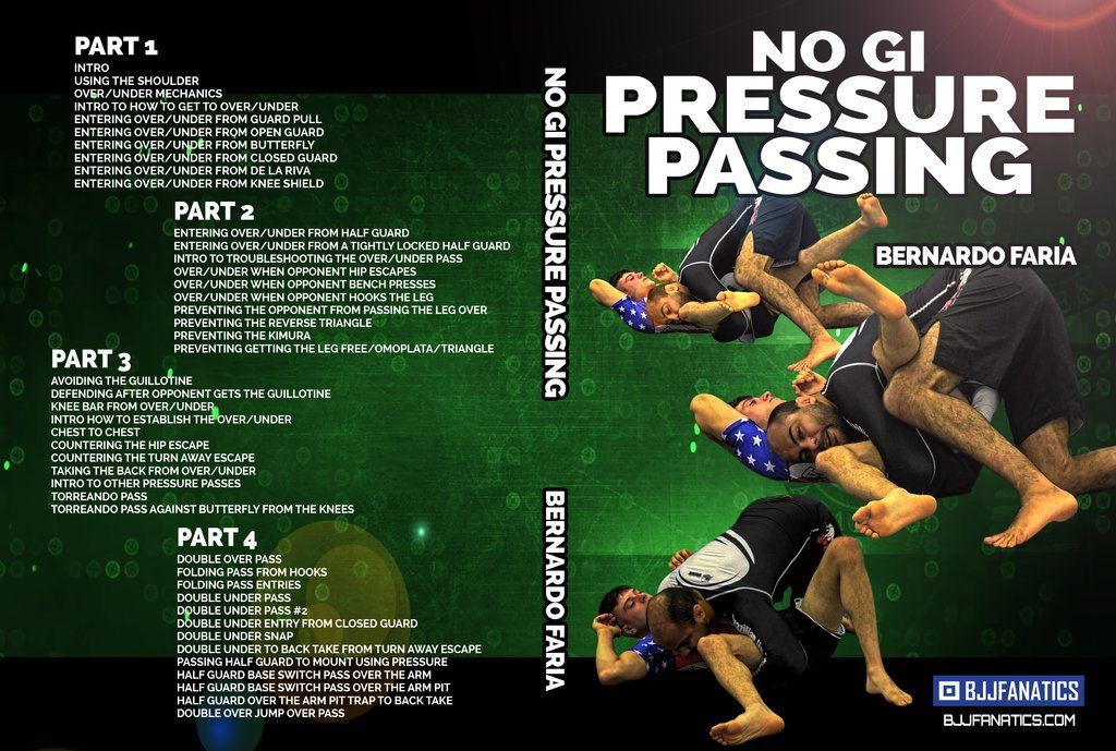 Review No-Gi Pressure Passing DVD Bernardo Faria, Best BJJ DVD For 2019