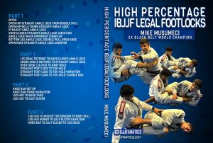 Mike Musumeci Cover 1 1024x1024 300x202 - Mikey Musumeci DVD: High Percentage IBJJF Legal Footlocks