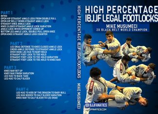Mikey Musumeci DVD: High Percentage IBJJF Legal Footlocks