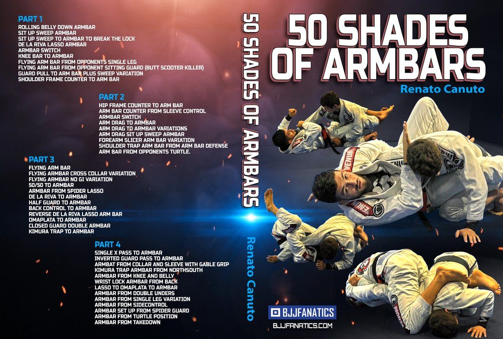 Review Of 50 Shades Of Armbar Renato Canuto best BJJ DVD