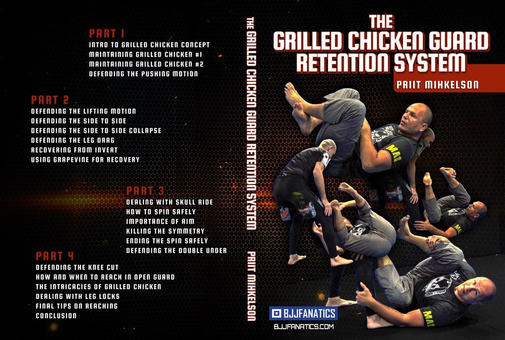 Priit Mihkelson Grilled Chicken Guard retention system Best BJJ DVD