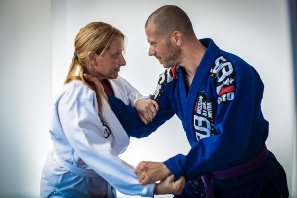 Man vs woman in BJJ sparring