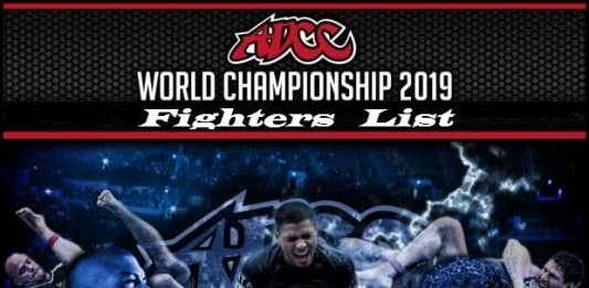 ADCC 2019 Fighters List