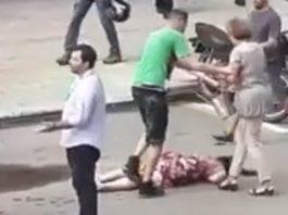 Grandma Chokes Woman Unconscious