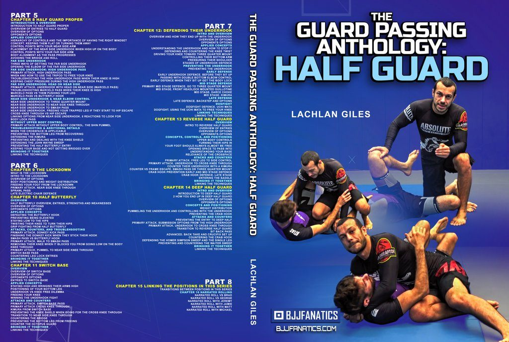 guard passing anthology cover 2 1024x1024 1024x689 - Lachlan Giles - Guard Passing Anthology: Half Guard