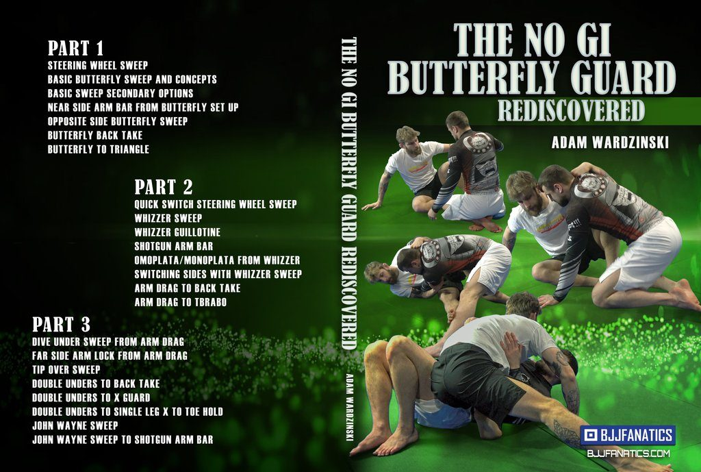 No Gi Butterfly Cover 1024x1024 1024x689 - Adam Wardzinski BJJ DVD Review: No-Gi Butterfly Guard Rediscovered
