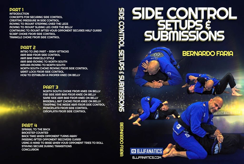 New Bernardo Faria DVD Review - Side Control Submissions