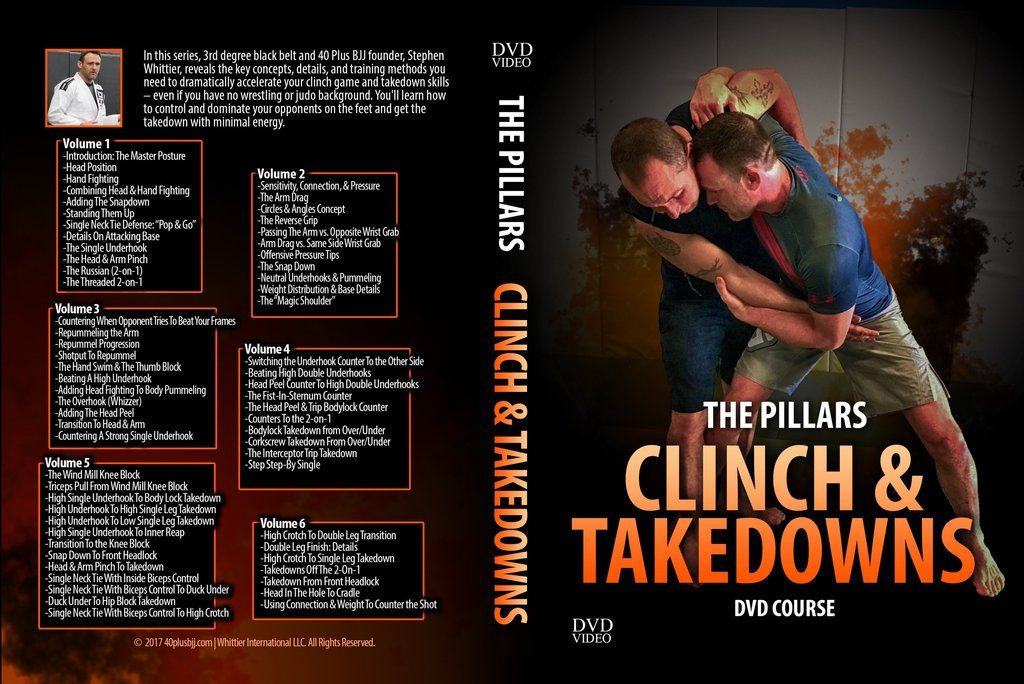"The Pillars Escapes Clinch and Takedowns 5 6 discs 1024x1024 1024x684 - Stephen Whittier DVD Review: ""Pillars Clinch And Takedowns"""