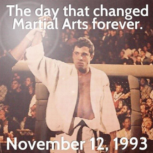 November 12, 1993 UFC 1 Royce Gracie